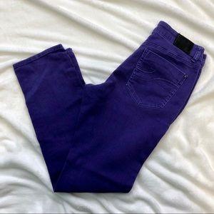 DKNY purple skinny denim jeans size 10